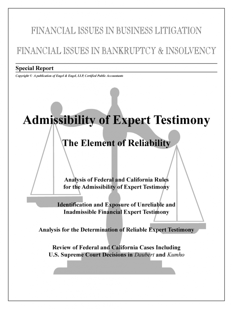 """Admissibility of Expert Testimony: """"The Element of Reliability"""""""