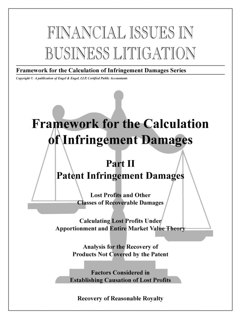 "Framework for the Calculation of Infringement Damages: Part II ""Patent Infringement Damages"""